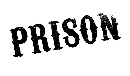 penitentiary: Prison rubber stamp. Grunge design with dust scratches. Effects can be easily removed for a clean, crisp look. Color is easily changed. Illustration