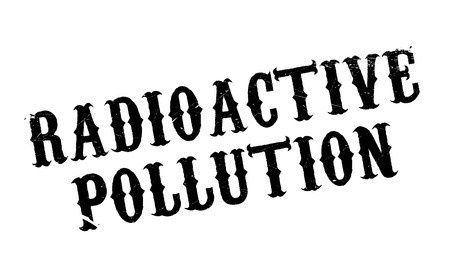 spillage: Radioactive Pollution rubber stamp. Grunge design with dust scratches. Effects can be easily removed for a clean, crisp look. Color is easily changed. Illustration