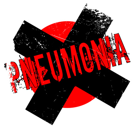 Pneumonia rubber stamp. Grunge design with dust scratches. Effects can be easily removed for a clean, crisp look. Color is easily changed. Stock Photo