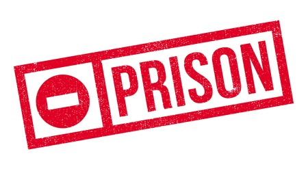 Prison rubber stamp. Grunge design with dust scratches. Effects can be easily removed for a clean, crisp look. Color is easily changed. Illustration