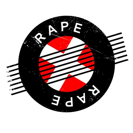 outrage: Rape rubber stamp. Grunge design with dust scratches. Effects can be easily removed for a clean, crisp look. Color is easily changed.