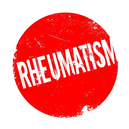 arthritic: Rheumatism rubber stamp. Grunge design with dust scratches. Effects can be easily removed for a clean, crisp look. Color is easily changed. Illustration
