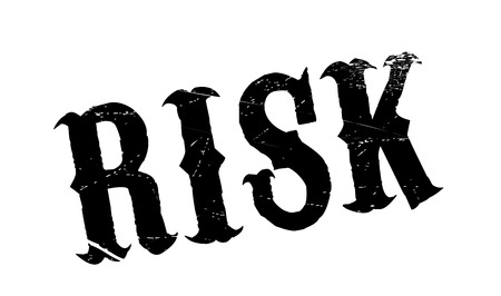 Risk rubber stamp. Grunge design with dust scratches. Effects can be easily removed for a clean, crisp look. Color is easily changed.