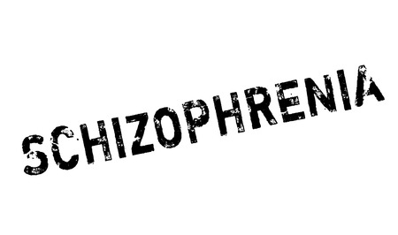 esquizofrenia: Schizophrenia rubber stamp. Grunge design with dust scratches. Effects can be easily removed for a clean, crisp look. Color is easily changed. Vectores