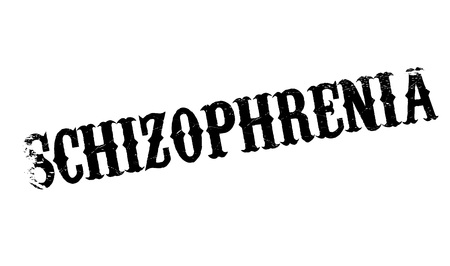 schizophrenic: Schizophrenia rubber stamp. Grunge design with dust scratches. Effects can be easily removed for a clean, crisp look. Color is easily changed. Illustration