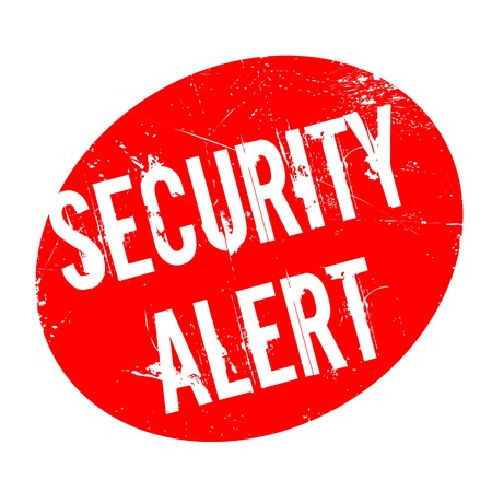 be alert: Security Alert rubber stamp. Grunge design with dust scratches. Effects can be easily removed for a clean, crisp look. Color is easily changed.