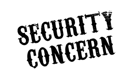 unprotected: Security Concern rubber stamp. Grunge design with dust scratches. Effects can be easily removed for a clean, crisp look. Color is easily changed. Illustration