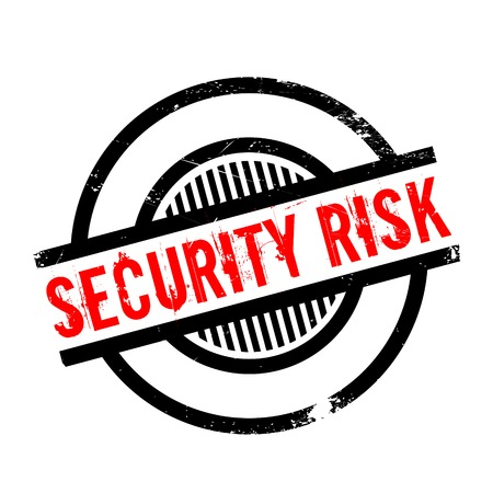 unprotected: Security Risk rubber stamp. Grunge design with dust scratches. Effects can be easily removed for a clean, crisp look. Color is easily changed.