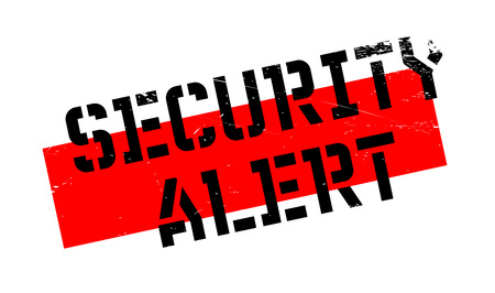 Security Alert rubber stamp. Grunge design with dust scratches. Effects can be easily removed for a clean, crisp look. Color is easily changed.