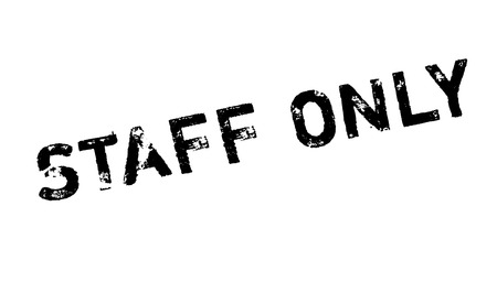 unrivaled: Staff Only rubber stamp. Grunge design with dust scratches. Effects can be easily removed for a clean, crisp look. Color is easily changed. Stock Photo