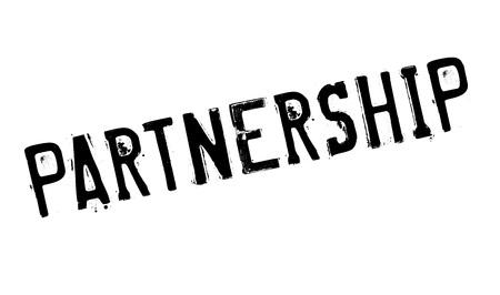 teaming up: Partnership rubber stamp