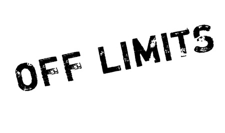 utmost: Off Limits rubber stamp. Grunge design with dust scratches. Effects can be easily removed for a clean, crisp look. Color is easily changed. Illustration