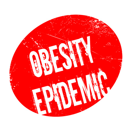 Obesity Epidemic rubber stamp. Grunge design with dust scratches. Effects can be easily removed for a clean, crisp look. Color is easily changed. Illustration