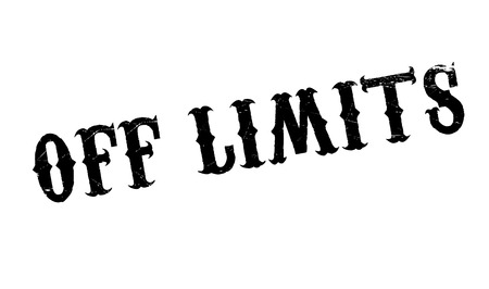 confines: Off Limits rubber stamp. Grunge design with dust scratches. Effects can be easily removed for a clean, crisp look. Color is easily changed. Illustration