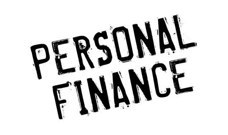personal banking: Personal Finance rubber stamp