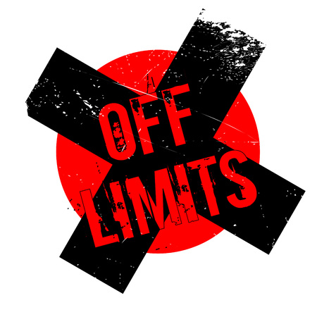 Off Limits rubber stamp. Grunge design with dust scratches. Effects can be easily removed for a clean, crisp look. Color is easily changed. Stock Photo