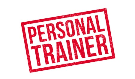 personal trainer: Personal Trainer rubber stamp Illustration