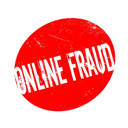 Online Fraud rubber stamp. Grunge design with dust scratches. Effects can be easily removed for a clean, crisp look. Color is easily changed. Illustration