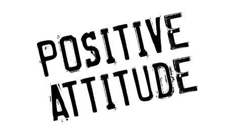 Positive Attitude rubber stamp