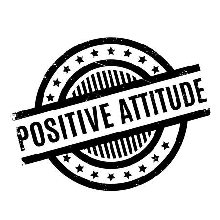 conclusive: Positive Attitude rubber stamp