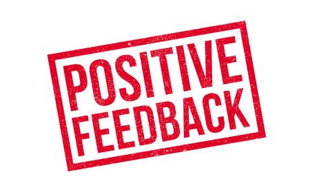 Positive Feedback rubber stamp Illustration