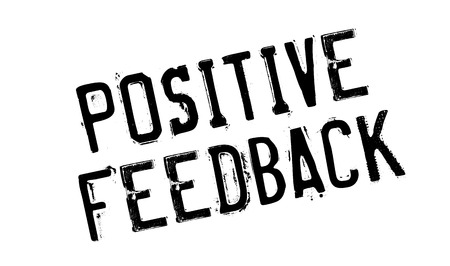 retaliation: Positive Feedback rubber stamp Illustration