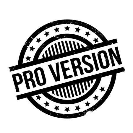 Pro Version rubber stamp Illustration