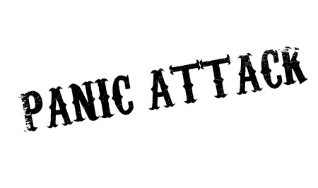 Panic Attack rubber stamp. Grunge design with dust scratches. Effects can be easily removed for a clean, crisp look. Color is easily changed. Illustration