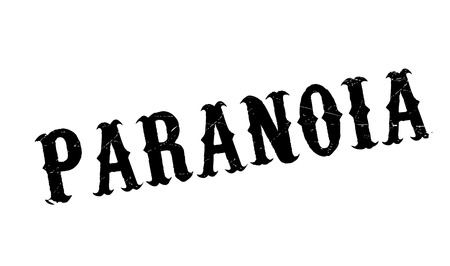 schizophrenic: Paranoia rubber stamp. Grunge design with dust scratches. Effects can be easily removed for a clean, crisp look. Color is easily changed.