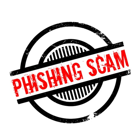 extortion: Phishing Scam rubber stamp. Grunge design with dust scratches. Effects can be easily removed for a clean, crisp look. Color is easily changed.