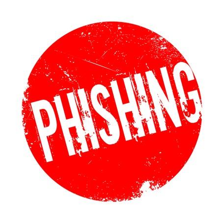 Phishing sello de goma. Diseño de Grunge con los rasguños polvo. Los efectos se pueden quitar fácilmente para una apariencia limpia y nítida. En color se cambia fácilmente.
