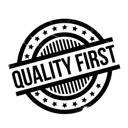 premier: Quality First rubber stamp Illustration
