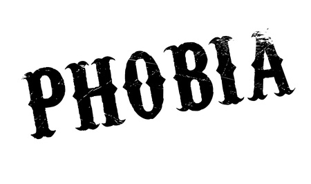 phobia: Phobia rubber stamp. Grunge design with dust scratches. Effects can be easily removed for a clean, crisp look. Color is easily changed. Illustration