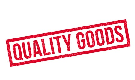 Quality Goods rubber stamp Illustration