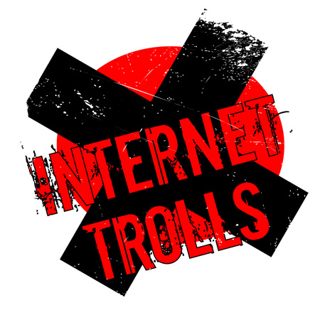 harass: Internet Trolls rubber stamp. Grunge design with dust scratches. Effects can be easily removed for a clean, crisp look. Color is easily changed. Stock Photo