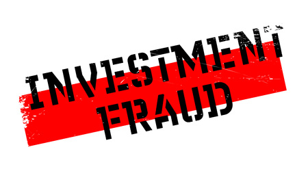 Investment Fraud rubber stamp. Grunge design with dust scratches. Effects can be easily removed for a clean, crisp look. Color is easily changed. Stock Photo