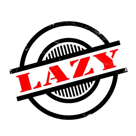 tiredness: Lazy rubber stamp. Grunge design with dust scratches. Effects can be easily removed for a clean, crisp look. Color is easily changed.