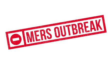 coronavirus: Mers Outbreak rubber stamp. Grunge design with dust scratches. Effects can be easily removed for a clean, crisp look. Color is easily changed.