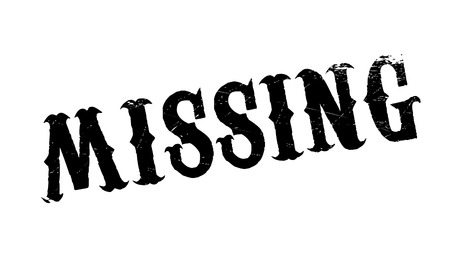 be missing: Missing rubber stamp. Grunge design with dust scratches. Effects can be easily removed for a clean, crisp look. Color is easily changed. Illustration