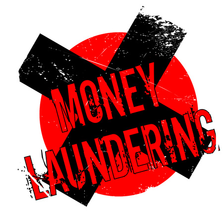 insider: Money Laundering rubber stamp. Grunge design with dust scratches. Effects can be easily removed for a clean, crisp look. Color is easily changed.