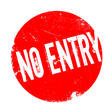 unreachable: No Entry rubber stamp. Grunge design with dust scratches. Effects can be easily removed for a clean, crisp look. Color is easily changed.