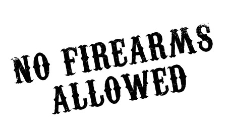 breech: No Firearms Allowed rubber stamp. Grunge design with dust scratches. Effects can be easily removed for a clean, crisp look. Color is easily changed. Illustration