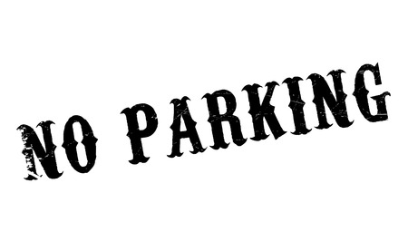 No Parking rubber stamp. Grunge design with dust scratches. Effects can be easily removed for a clean, crisp look. Color is easily changed. Illustration