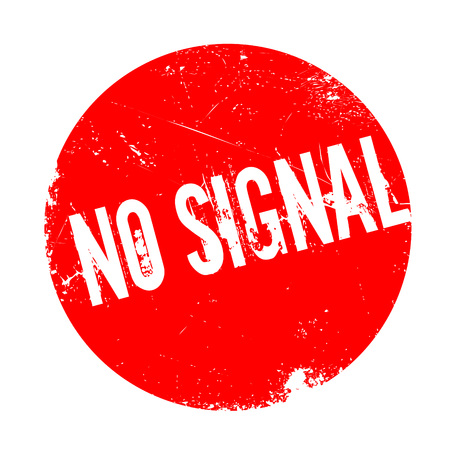 No Signal rubber stamp. Grunge design with dust scratches. Effects can be easily removed for a clean, crisp look. Color is easily changed. Stock Photo