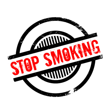 removed: Stop Smoking rubber stamp. Grunge design with dust scratches. Effects can be easily removed for a clean, crisp look. Color is easily changed. Illustration