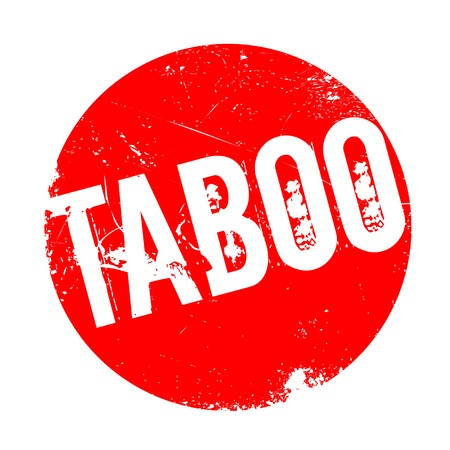 Taboo rubber stamp. Grunge design with dust scratches. Effects can be easily removed for a clean, crisp look. Color is easily changed.
