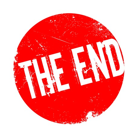 The End rubber stamp. Grunge design with dust scratches. Effects can be easily removed for a clean, crisp look. Color is easily changed. Stock Photo