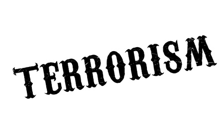 discord: Terrorism rubber stamp. Grunge design with dust scratches. Effects can be easily removed for a clean, crisp look. Color is easily changed.