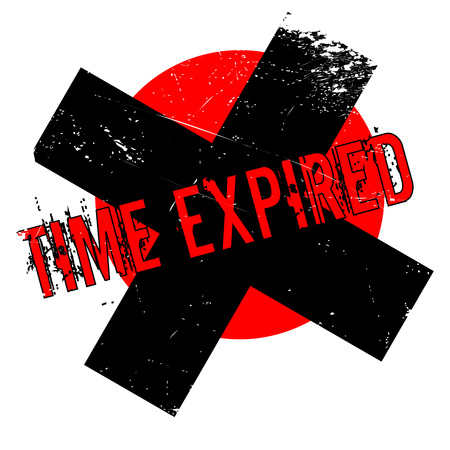 Time Expired rubber stamp. Grunge design with dust scratches. Effects can be easily removed for a clean, crisp look. Color is easily changed. Stock Photo