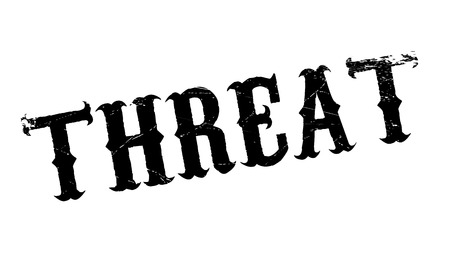 removed: Threat rubber stamp. Grunge design with dust scratches. Effects can be easily removed for a clean, crisp look. Color is easily changed. Illustration